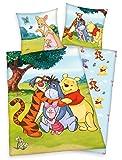 Klaus Herding GmbH Disney 's Winnie The Pooh - Juego de cama (80 x 80 cm y 135 x 200 cm, 100% algodón), multicolor