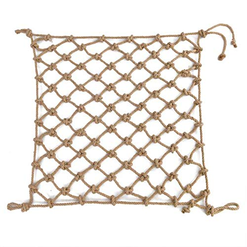 Qianghua Protective Net Decorative Net Retro Ceiling Net Thick Hemp Rope Partition Fence Net Rope Indoor And Outdoor Climbing Net,2 * 4m(6.6 * 13.2ft)