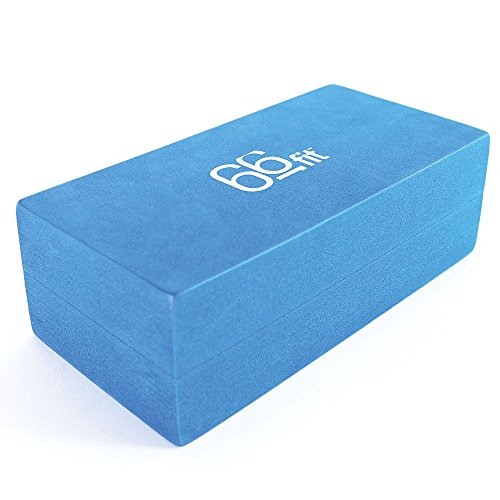 66FIT - Bloque para Yoga y Pilates (22 x 11 x 7 cm), Color Azul