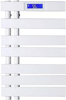 Radiador De Escalera De Riel De Toalla con CalefaccióN, Calentador De Toallas EléCtrico De Fibra De Carbono Montado En La Pared para Accesorios De BañO - Blanco