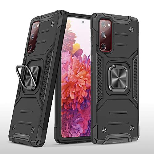 TOPOFU Funda para iPhone 13 Pro MAX, Doble Capa con Soporte de Anillo de Dedo Ajustable 360 ° Híbrida Rugged Armor Soporte Carcasa para iPhone 13 Pro MAX - Negro