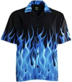Benny's Blue Flames Bowling Shirt XL