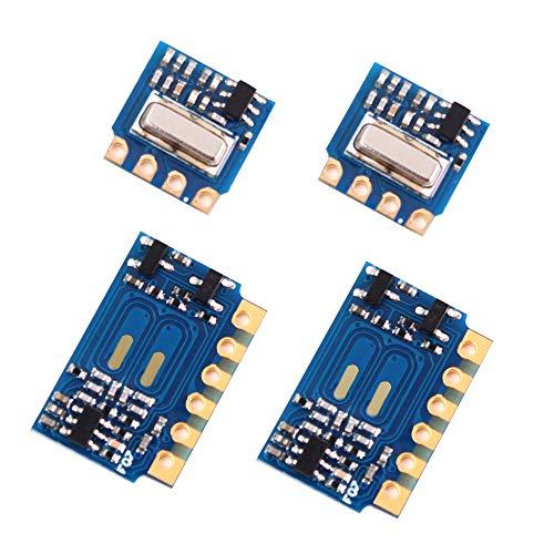 PEMENOL 2 Stk. 433 Mhz Sender Empfänger Modul Kit, 2 x H34A Sendermodul + 2 x H3V4F Empfängermodul, 433 Mhz Wireless Transmitter und Receiver Kit Modul für Arduino Raspberry Pi