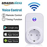 WlAN Steckdose, COLEMETER Intelligente WiFi Steckdose Smart Plug Kompatibel mit Alexa (Echo und Echo...
