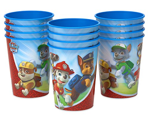 American Greetings Paw Patrol Plastic Cups for Kids (12-Count)
