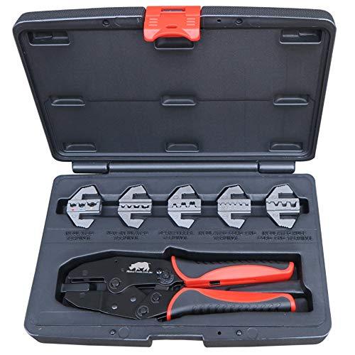 Rhino Tools - Crimpadora de cables (5 unidades)