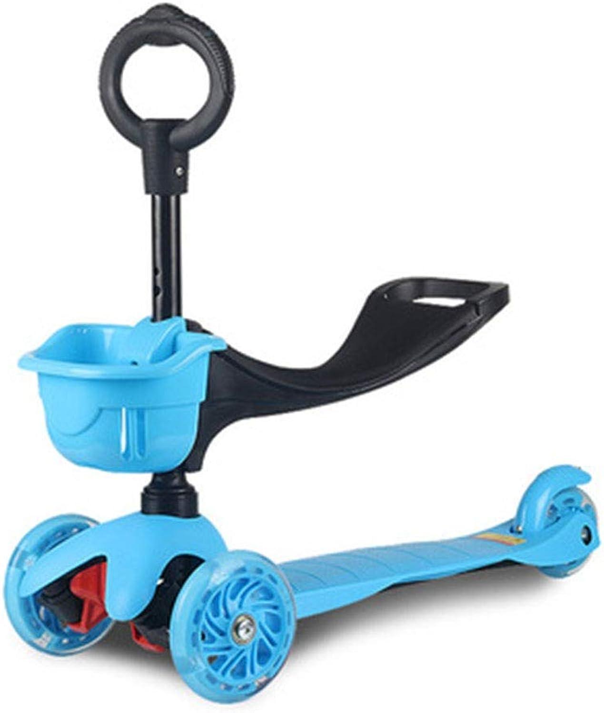 lo último SBKD Scooter para Niños Coche De Juguete Juguete Juguete para Bebés Flash Lift Tres En Uno (Color   verde)  popular