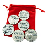 Westman Works Love Token Gift Set Six Large Embossed Tokens with Red Gift Bag