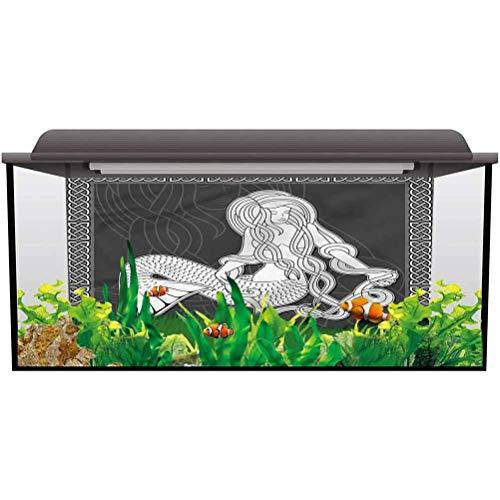 Fish Tank Background Mermaid,Retro Celtic Borders for Birthday Party Banner Decor Aquarium L30 X H12 Inch