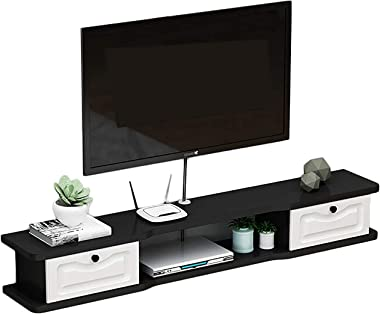 TV Cabinet, TV Lowboard, Floating Shelves, Étagère flottante Pour meuble TV, meuble TV en Bois 120/140 / 160cm / armoire mura