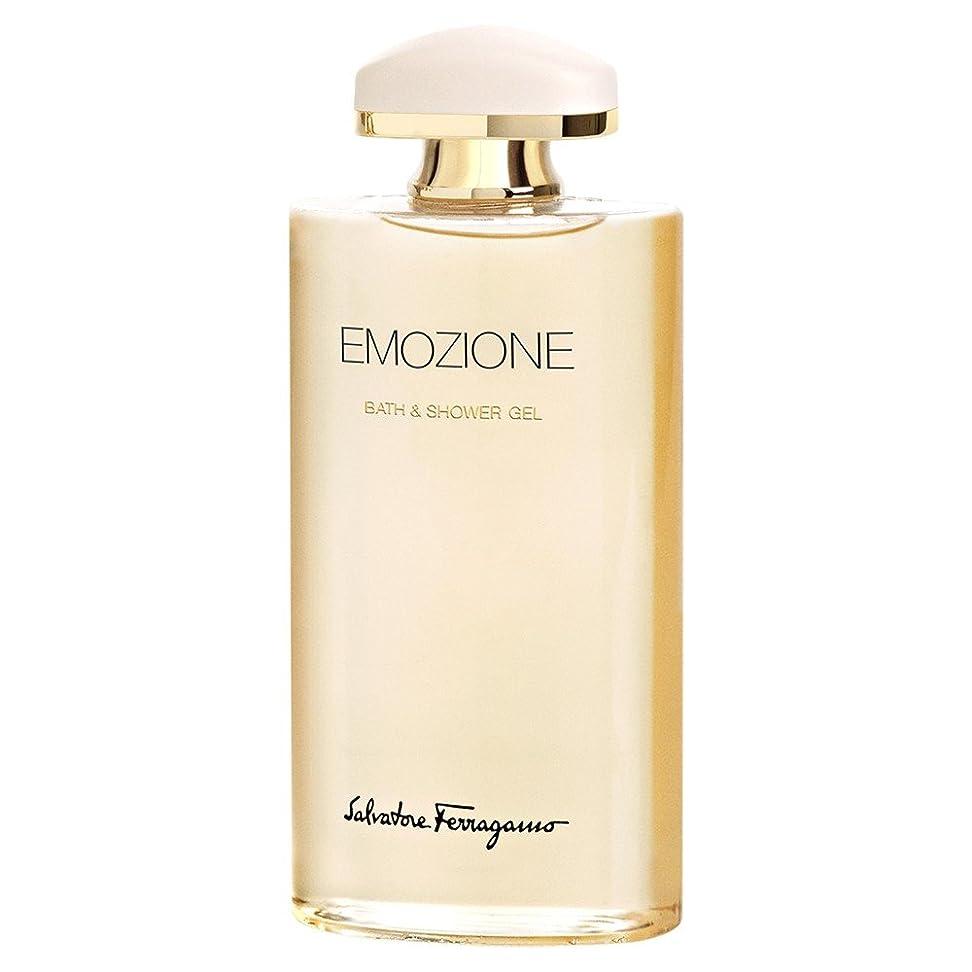 ジョグ把握小道具サルバトーレ?フェラガモEmozioneシャワー&バスジェル200Ml (Salvatore Ferragamo) (x6) - Salvatore Ferragamo Emozione Shower & Bath Gel 200ml (Pack of 6) [並行輸入品]