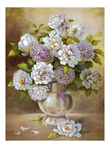 Cuadro sobre Lienzo Enrollado – Hortensia Flores II Pinturas Cuadros con Flores Naturaleza Muerta Pared Impresións – 40X55 cm