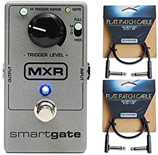 MXR M-135 Smart Gate Noise Gate Pedal with 2 Flat Patch Cables!!
