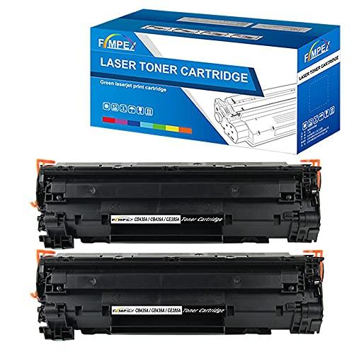 Fimpex Compatibile Toner Cartuccia Sostituzione per HP LaserJet M1120 MFP, M1120n MFP, M1522n MFP, M1522nf MFP, P1505, P1505n CB436A (Nero, 2-Pack)