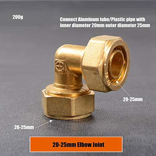 Bureau 3 stks 12-16 16-20 20-25mm koper direct/elleboog gezamenlijke aluminium kunststof buis zonne-energie kachel geothermische buis snelle connector