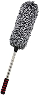 LIMENGJIAO 1 pc Car Microfiber Duster Cleaning Cloth car Care Clean Brush Dusting Tool Microfibre Wax Polishing Detailing ...