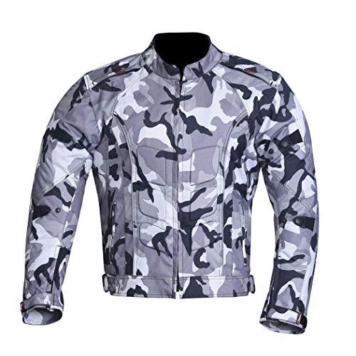 NORMAN Herren Motorrad Jacke Wasserfeste Textil Biker Ce Schutzpolster Cordura Camo - Camouflage, XXL
