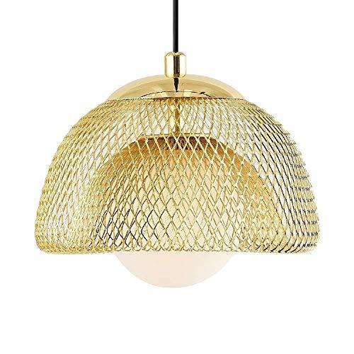 LLLKKK Lámpara de techo dorada romántica de lujo con forma de lágrima para decoración de restaurante o restaurante