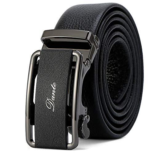 Xme Cinturón de cuero para hombres, cinturón de negocios con hebilla automática, cinturón casual para hombres