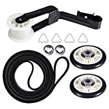 4392065 Dryer Repair Kit Replacement for Whirlpool Maytag Amana Kenmore. 341241 Belt, WP691366 Idler Pulley & 349241T Rear Drum Roller Kit. Dryer Maintenance Kit Replace Part 4392065RC, 279860, 279948