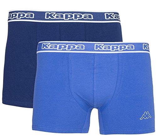 Kappa 2er Pack Sebo Unterwäsche Herren Boxershorts Unterhose Dunkelblau Blau 704140 840, Größenauswahl: XL