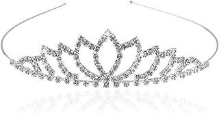 Banda para la cabeza corona,Tiara Corona de Cristal,Tiara Corona Diadema Adornada con diamantes de imitación peine para co...