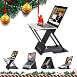 NTQ Portable Laptop Stand, Adjustable Laptop Tablet Stand Holder, Laptop Riser for Desk, Compatible with MacBook, Air, Pro, Lenovo and More 10-15.6 Inch Laptop & Tablets (Black)