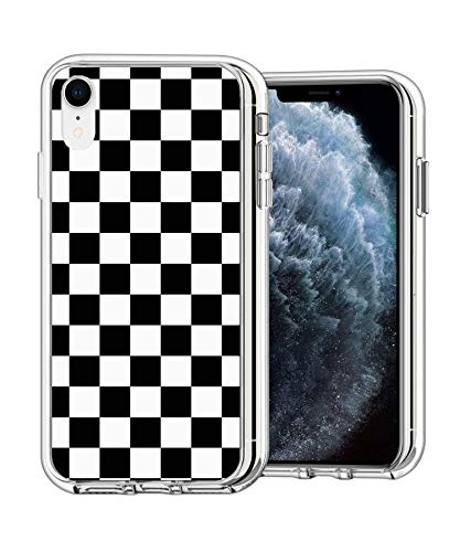 Case Phone Clear Anti-Scratch Motion Limited Edition Black Checkered Cases for iPhone XR 6.1'