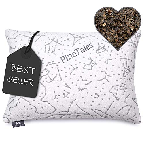 PineTales, Premium Organic Buckwheat Pillow with...
