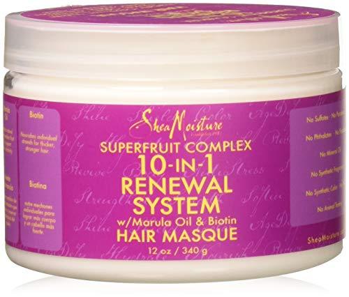 SheaMoisture SuperFruit Complex 10-IN-1 Renewal System - mascarillas para el cabello (Unisex, Brittle hair, Protección del color, Nutritiva, Brillo, Suavizante, Fortalecimiento, Cazuela, Water, Cetyl Alcohol, Cocos Nucifera (Coconut) Oil*, Behentrimonium Methosulfate, Glycerin (Vegeta)