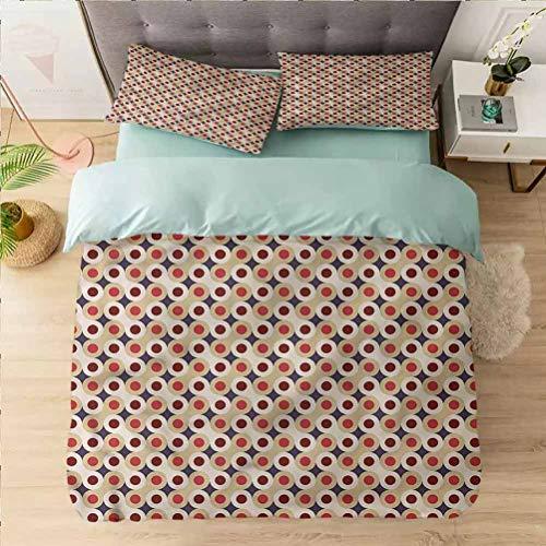 Aishare Store - Juego de funda de edredón (3 piezas, reversible, 2 fundas de almohada, ultra suave, con cierre de cremallera