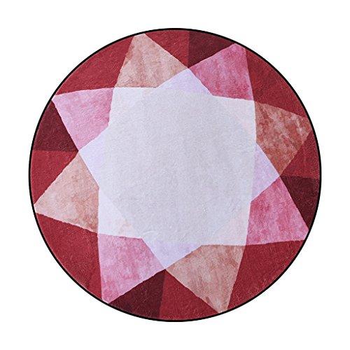 Tapis Moquettes et sous Rouge géométrie Fleurs Restaurant Table Basse Ordinateur chaises Polyester Les (Size : 100cm)