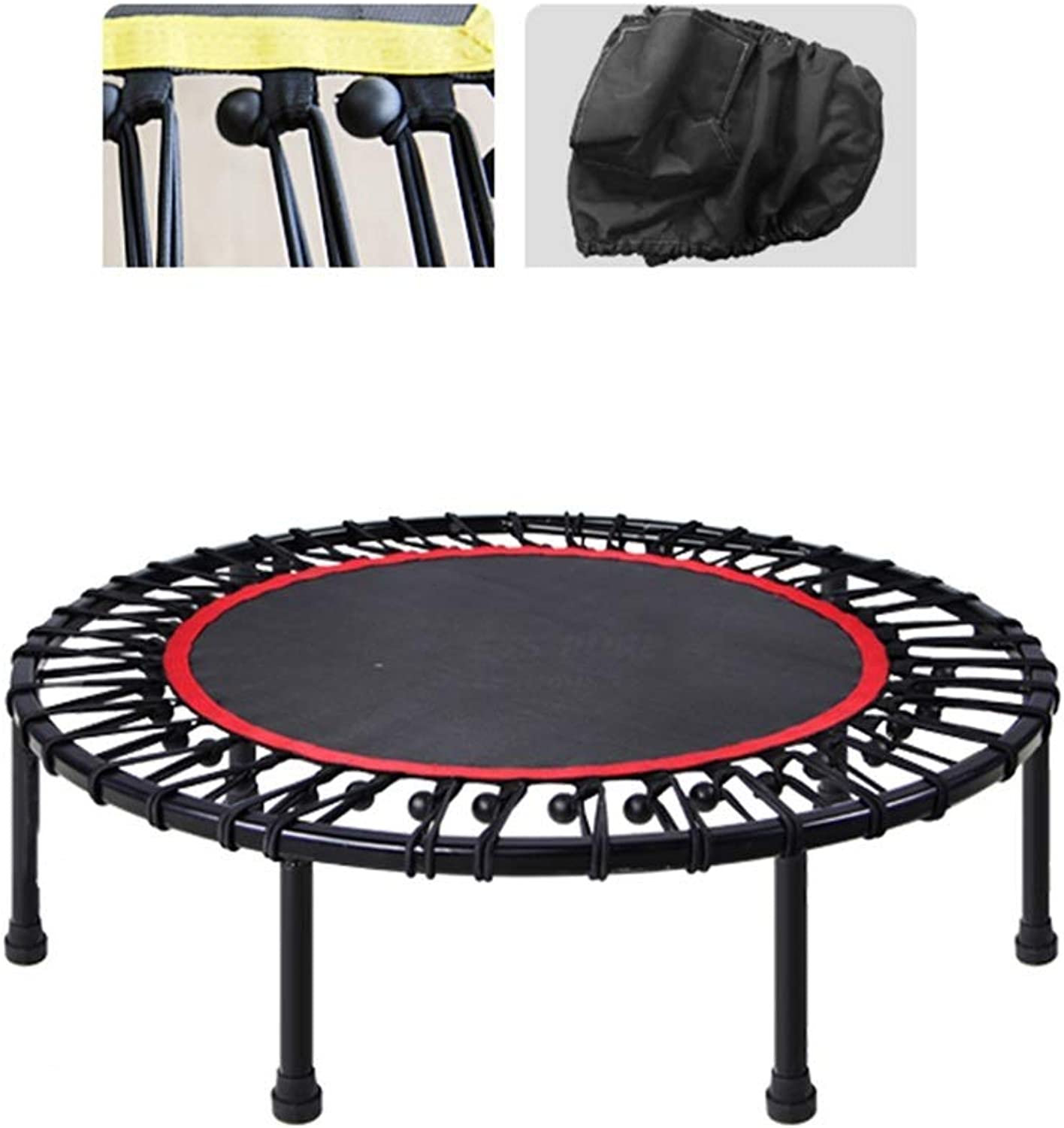 Fitness Trampoline, with Handrail Indoor Training Safety Elastic Jumping Fat Burning for Adult
