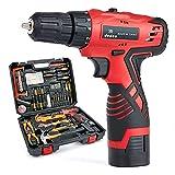 Dedeo - Juego de herramientas para taladrar martillo inalámbrico, 60 piezas de herramientas eléctricas para el hogar con martillo de litio de 16,8 V