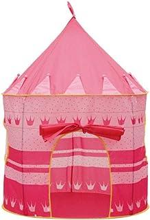 Color : Rosado Zhangcaiyun-Toys Carpa Infantil Princess Castle Play Tent Playhouse para niños con Carpa Juguetes Juegos para Interiores y Exteriores Bebés y niños pequeños Mobiliario y materiales para educación temprana