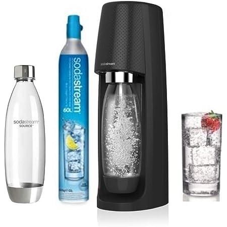 Sodastream Pack SPIRITNFUSE avec Machine à Eau Pétillante et Soda Spirit Noir, 2 Bouteilles FUSE en PET 1L et 1 Cylindre de CO2 60 L [Exclusif Amazon]