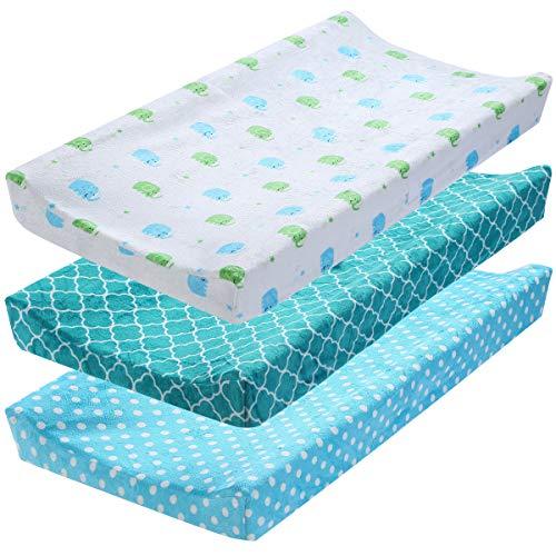 DaMohony - Set di 3 copri fasciatoio, elastico per il cambio del pannolino, per neonati e ragazze (senza cinghia)