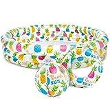 Hammer Inflable Piscina for niños, Duradero y Seguro Cabrito plástico Piscina, fácil de Limpiar y almacenar, Piscina Inflable Conjunto, con la Bola Anillo de la natación for los niños, 52' x 11'