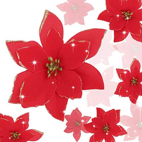 Flores Para Navidad Tela flores para navidad  Marca UFLF