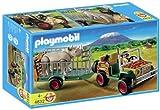 Playmobil - 4832 - Jeu de construction - Véhicule de safari avec rhinocéros
