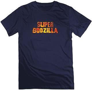 Gray Customized Godzilla Destroy Short-sleeve For Men