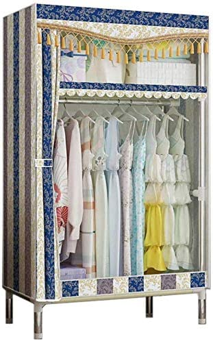 Deluxe ALWUD NEW before selling ☆ Cloth Wardrobe Closet Fabric Po with Hanging Cabinet Rack