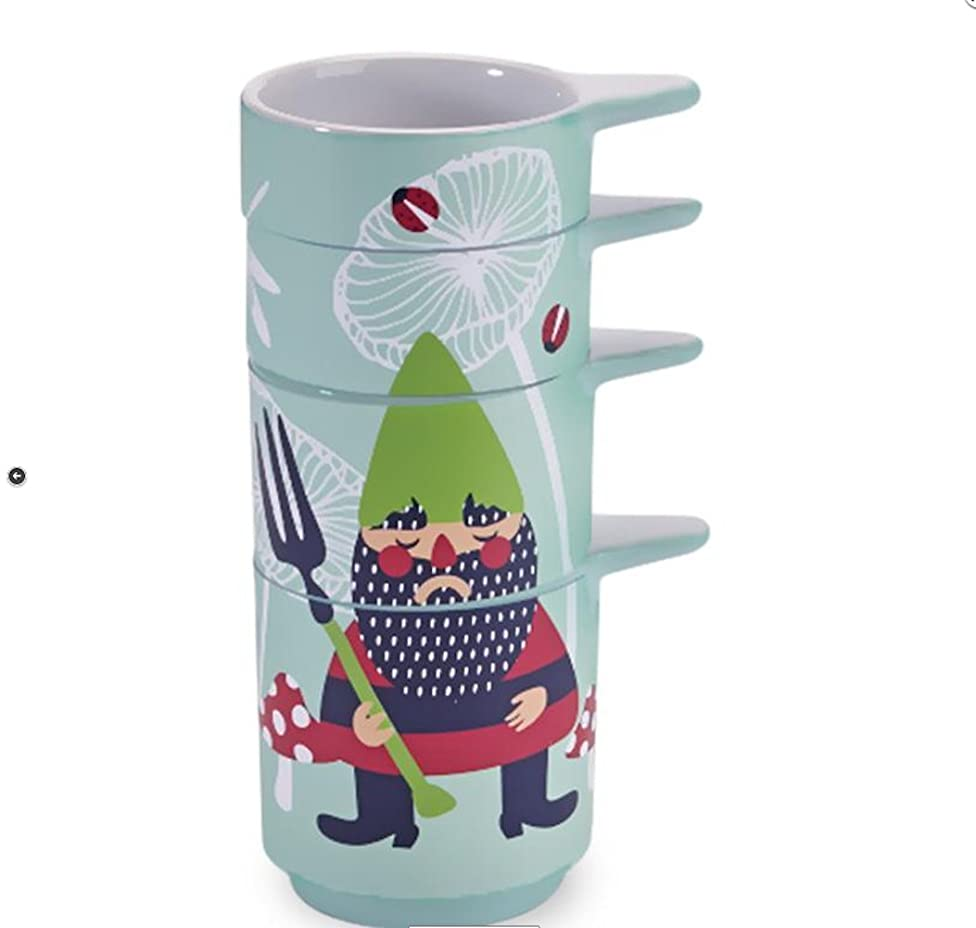 Kitsch'n Glam - Measuring Cup Stack - Garden Gnome
