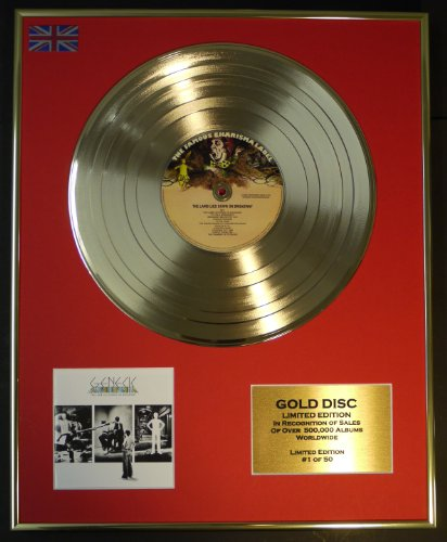 Everythingcollectible Genesis/Limitierte Edition Goldene Schallplatte/Record/The Lamb Lies DOWN ON Broadway
