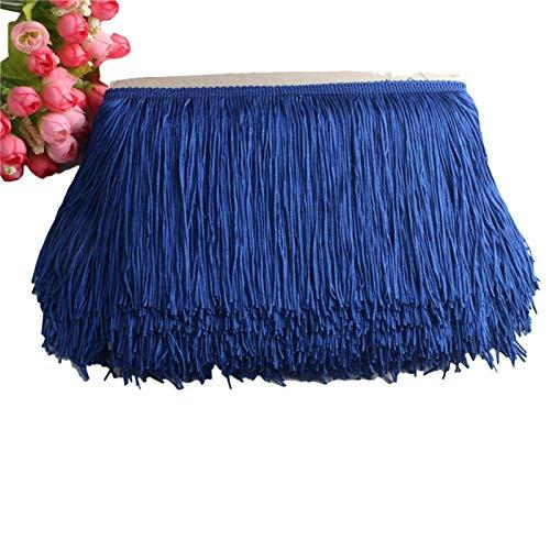 DAHDXD Beatiful 1Yard Lace Fringe Trim 15cm Wide Tassel Fringe Trimming For DIY Latin Dress Stage Clothes Accessories Lace Ribbon (Color : Royal blue)