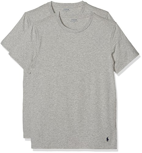 Polo Ralph Lauren Herren Classic T-Shirt, Grau (2Pk An Htr/An Htr 003), Large (2er Pack)