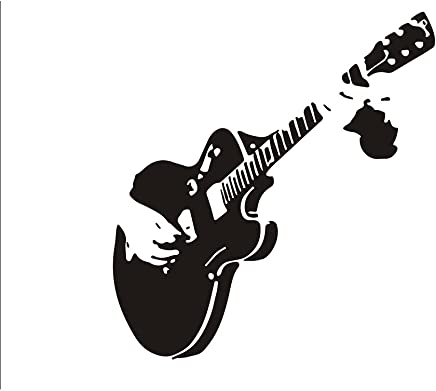 Pegatinas de Pared Arte-calcomanías de Pared-Pegatina murales 55 * 59cm Guitarra para
