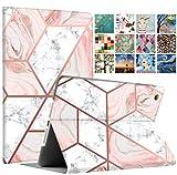 DuraSafe Case for iPad Mini 3 / Mini 2 / Mini 1 - 7.9 Inch [ A1432 A1454 A1455 A1489 A1490 A1491 A1599 A1600 ] Printed Smart Cover Slim Folio - Pink Marble