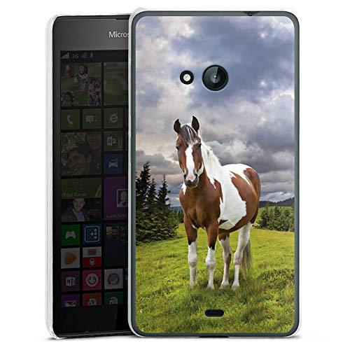 DeinDesign Hülle kompatibel mit Microsoft Lumia 535 Dual SIM Handyhülle Case Pferd Horse Stute