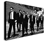 DOLUDO Poster and Prints Reservoir Dogs Canvas Painting Black and White Wall Art Picture Home Decoration for Living Room Bedroom No Frame 16x24inch